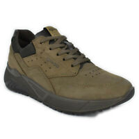Scarpe IGI&CO Sneaker pelle Nabuk marrone taupe memory foam suola zeppa -6142722