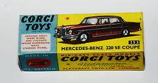 Reprobox Corgi Toys Nr. 253 - Mercedes-Benz 220SE Coupé