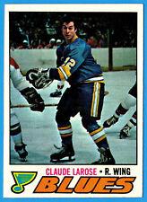 1977-78 Topps CLAUDE LAROSE (ex-mt) St. Louis Blues