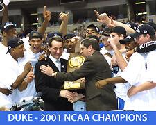 DUKE UNIVERSITY - 2001 NCAA BASKETBALL CHAMPIONS - 8x10 Color Team Photo