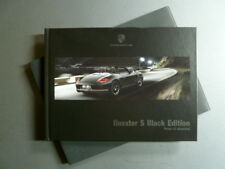 "2011 Porsche Boxster ""Black Edition"" HARDCOVER Showroom Brochure & Slipcover"