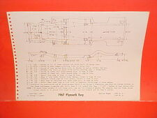 1967 PLYMOUTH SPORT FURY CONVERTIBLE VIP HARDTOP WAGON FRAME DIMENSION CHART
