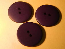 25 NEW 1 INCH DULL FINISH  PURPLE  BUTTONS