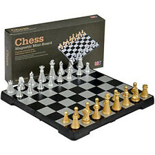 Magnetic Folding Chess Board Portable High Quality Games Camping Travel with box