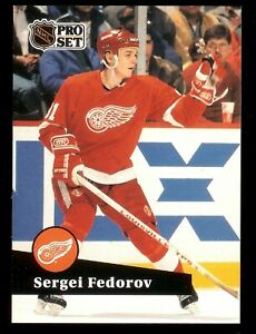 1991-92 Pro Set French #53 Sergei Fedorov Detroit Red Wings