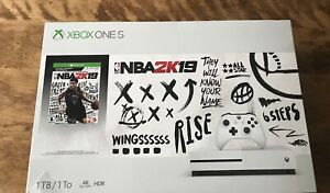 NEW Microsoft Xbox One S 1TB Gaming Console NBA 2K19 & 5 Games Never Used