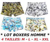 LOT 6 BOXERS HOMME GARCON CALECON SLIP COTON CAMOUFLAGE TAILLE M - L - XL - XXL