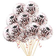 Konfetti Luftballon Set für 30. Geburtstag Feier Party Ballons Rosegold