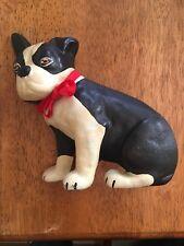 Vintage Cast Iron Doorstop Boston Bull Terrier Dog Wedge