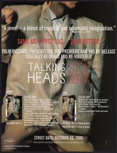 Talking Heads__STOP MAKING SENSE__Original 1999 Trade Print AD / ADVERTISEMENT