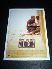 THE MEXICAN, film card [Brad Pitt, Julia Roberts]