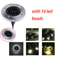 16LED Solar Power Buried Light Ground Lamp Outdoor Path Garden Waterproof NO1