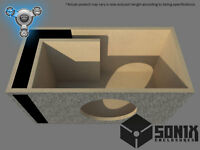 STAGE 1 - PORTED SUBWOOFER MDF ENCLOSURE FOR SUNDOWN SA8V3 SUB BOX