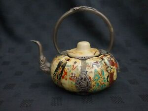 Japanese Porcelain and Tibet Silver teapot. 220721-02
