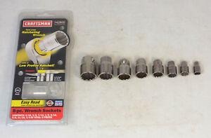 8-Piece Craftsman USA SAE Wrench Socket Set 42800