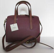Fossil Sydney Satchel Cabernet Handbag Shoulder Bag Tote New With Tags