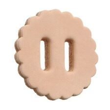 """Slotted Leather Rosettes - Light Oil - 1"""" - Pack of 10"""