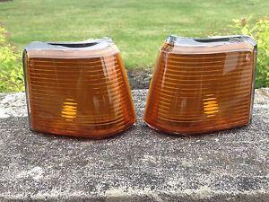 NEW 87-88  Cutlass Supreme Calais 442 GT-350 EURO Amber Marker Lights Lens Set