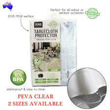 Transparent Plastic Tablecloth Protector PVC Clear Dining Picnic Table Cover AU