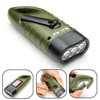 2020 Powerful Emergency Hand Crank Dynamo Solar Rechargeable LED Flashlight Gift