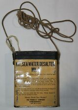 ORIGINAL KOREAN WAR AIRCRAFT SURVIVAL MK-2 SEA WATER DESALTER KIT, 1951 DATED