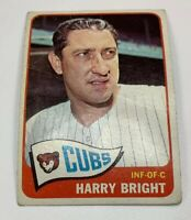 1965 Topps # 584 Harry Bright Baseball Card Chicago Cubs