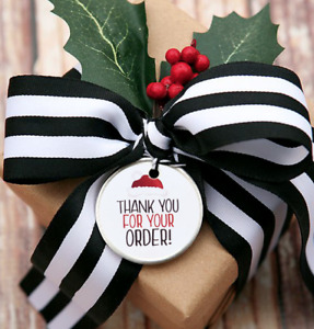 50PCS Merry Christmas Sticker Thank you Business Sticker Christmas Parcel Seal