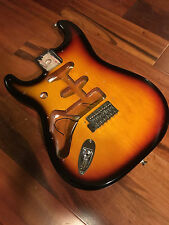 Left Hand Gen Fender Stratocaster Strat 3 Tone Sunburst Alder Body Lefty Bridge