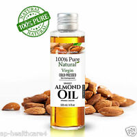 100% PURE SWEET ALMOND VIRGIN NATURAL COLD PRESSED UNREFINED & REFINED OIL
