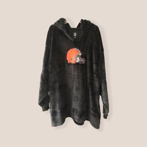 Cleveland Browns Minky Fleece Pullover Hoodie FOCO 1X 2X 3X 4X 5X 6X One Size