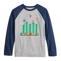 Boys 8-20 Nintendo Super Mario Bros. Raglan Tee, Size Large, Retail $22.00