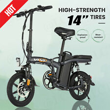 EBike 14'' Folding Electric Bicycle Bike 30Mph wi48V/350W Removable Battery New/