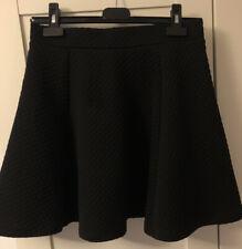 hm Size S, Black Quilted Skater Skirt