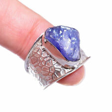 Anillos de joyería anillo con piedra azules naturales