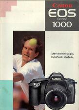 plaquette publicitaire Canon EOS 1000, fiche technique... 11 pages