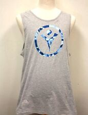 Mens Special Olympics Tank Top Gray Shirt Blue Logo Next Level Cotton Jersey M14