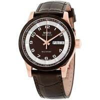 Mido Men's Watch Multifort Automatic Brown Dial Leather Strap M0188303629200