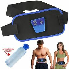 Original Abs Gymnic Electronic Toning Belt Body Massager Tummy Waist Quad Muscle