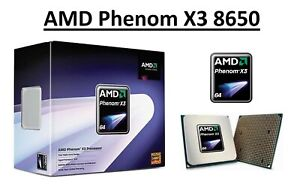 AMD Phenom X3 8650 Triple Core Processor 2.3 GHz, Socket AM2/AM2+, 95W CPU