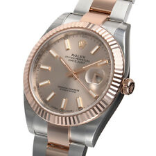 Rolex DATEJUST 41mm 126331 Mens Steel & Pink Gold Oyster Sundust Index Dial