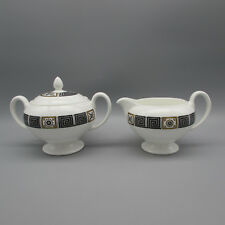 Wedgwood Bone China ASIA - BLACK Creamer & Sugar Set