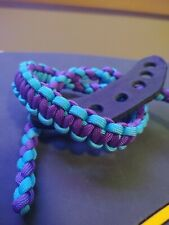 Neon teal & purple Archery Bow wrist strap Free Shipping Bling Sling