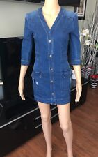 NEW BALMAIN RUNWAY SEXY Denim Mini Dress FR 36 US 4 SOLD OUT!!!
