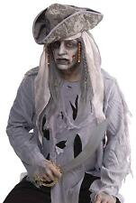 ZOMBIE PIRATE BLACK & DIRTY WIHITE DEAD LOOK WIG COSTUME DRESS FM66620