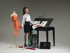 TONNER 1/4 SCALE TYLER WENTWORTH DRAFTING TABLE AND STOOL - NEW - DOLL FURNITURE
