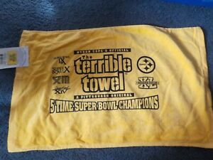 Pittsburgh Steelers Myron Cope's 5 Time Super Bowl Champions Terrible Towel NWT