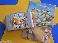 STAR WARS EPISODE 1 RACER + INSTRUCTION BOOK - NINTENDO 64 - N64