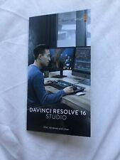 davinci resolve studio 16 Dongle