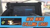[PC/PS4/XBONE] CALL OF DUTY COD MODERN WARFARE EPIC ANIMATED NUKE CALLING CARD