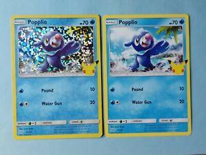 Popplio 23/25 Holo + Regular McDonalds 25th Anniversary NM Promo Pokemon Card